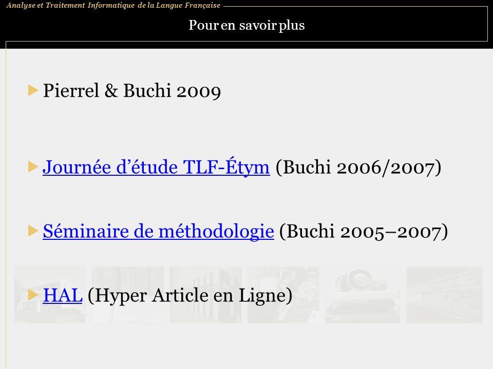 Journée d'étude TLF-Étym (Buchi 2006/2007)