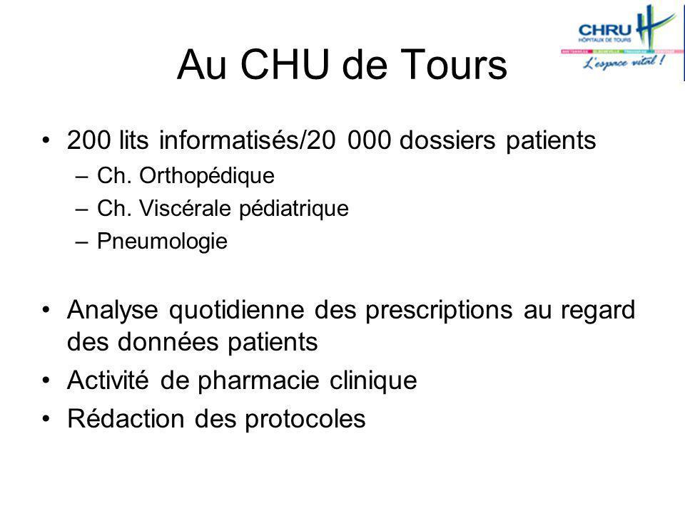 Au CHU de Tours 200 lits informatisés/20 000 dossiers patients