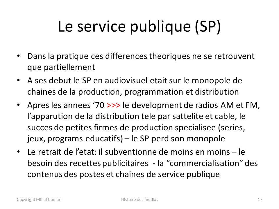 Le service publique (SP)