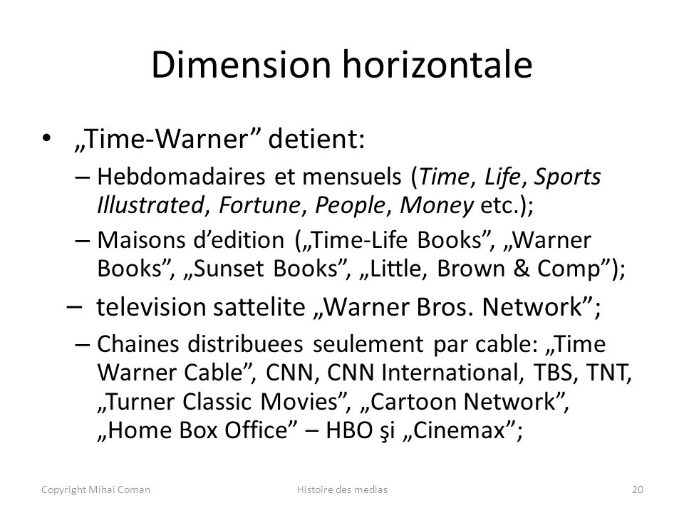Dimension horizontale