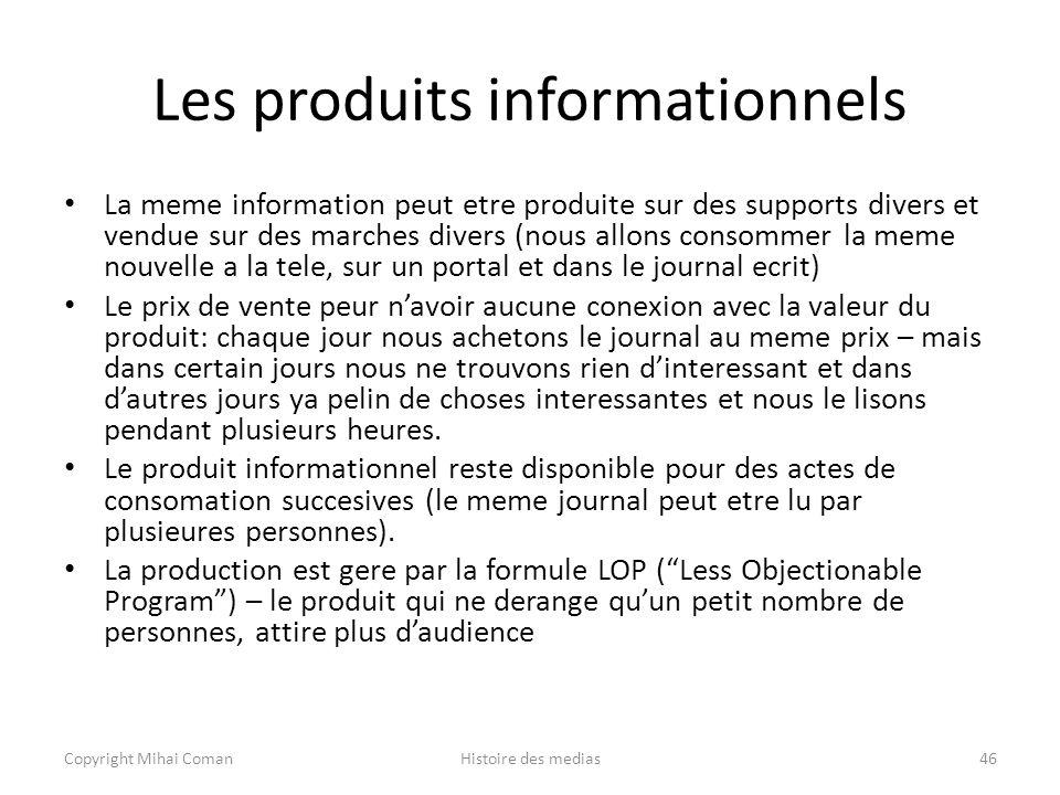 Les produits informationnels