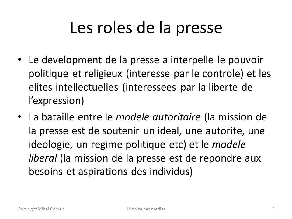 Les roles de la presse