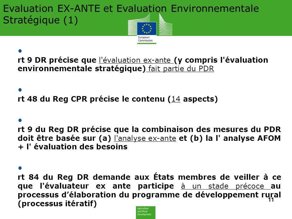 Evaluation EX-ANTE et Evaluation Environnementale Stratégique (1)