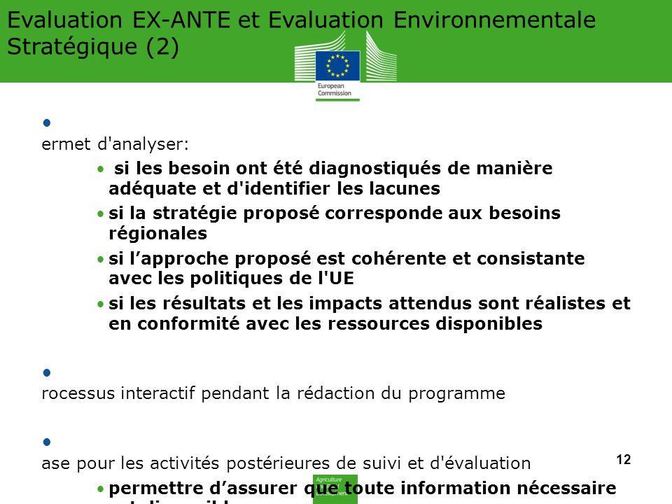 Evaluation EX-ANTE et Evaluation Environnementale Stratégique (2)