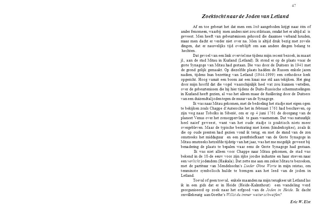 47 Zoektocht naar de Joden van Letland.