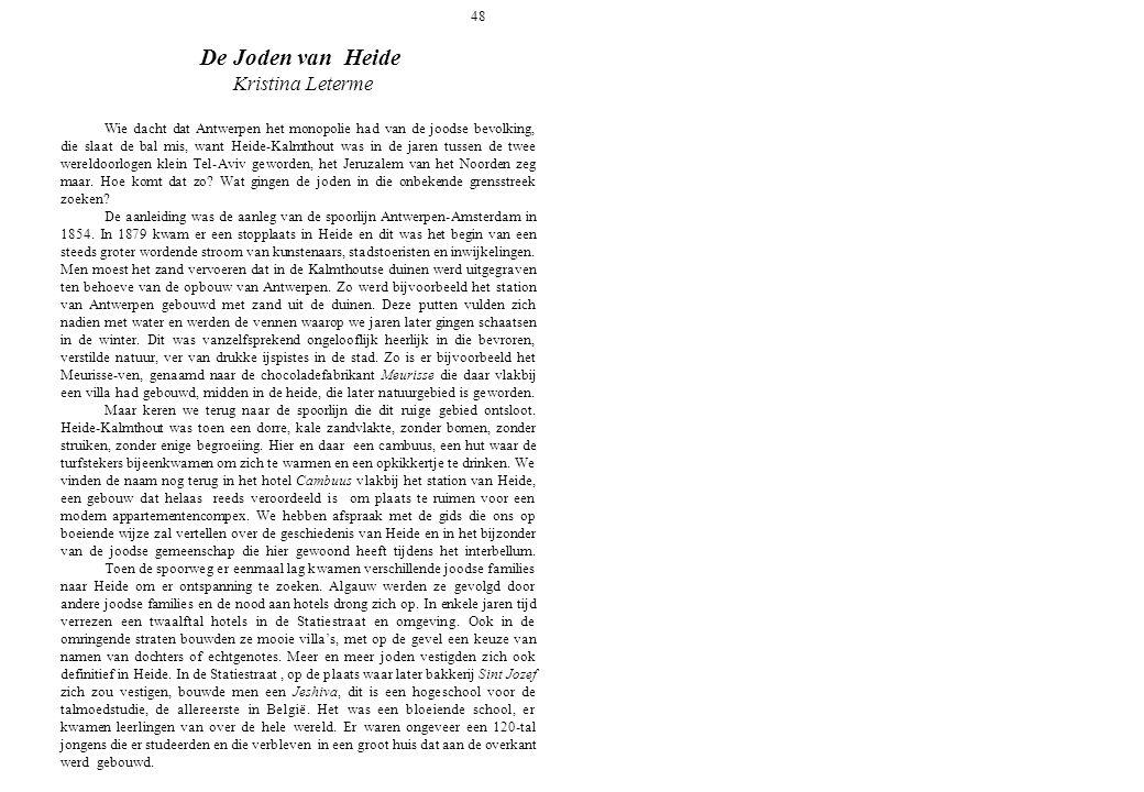 48 De Joden van Heide. Kristina Leterme.