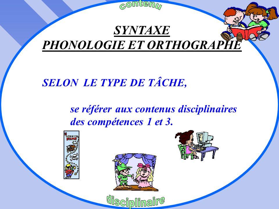 PHONOLOGIE ET ORTHOGRAPHE