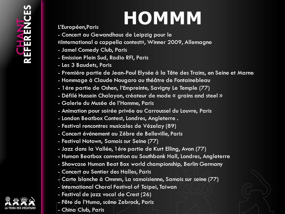 HOMMM REFERENCES L'Européen,Paris