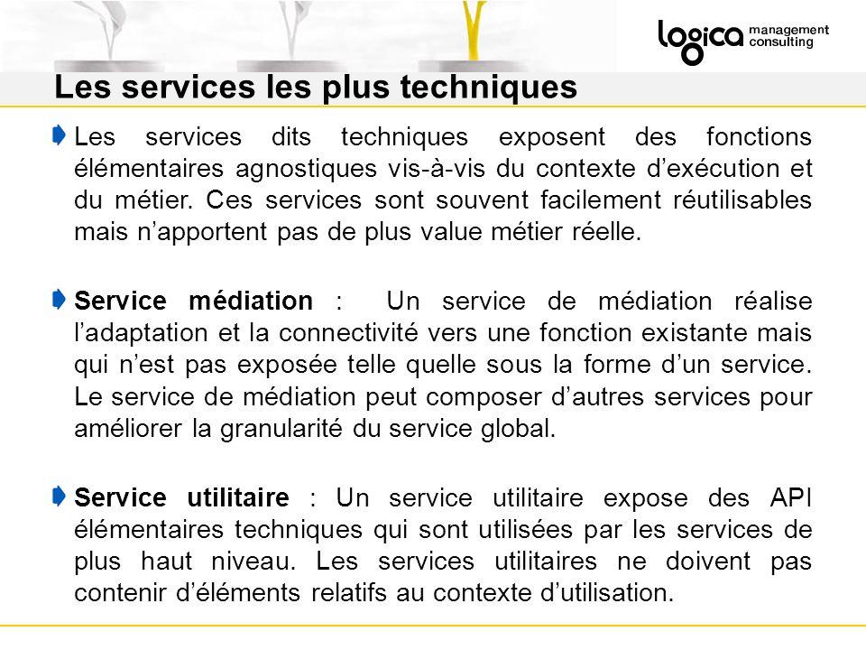 Les services les plus techniques