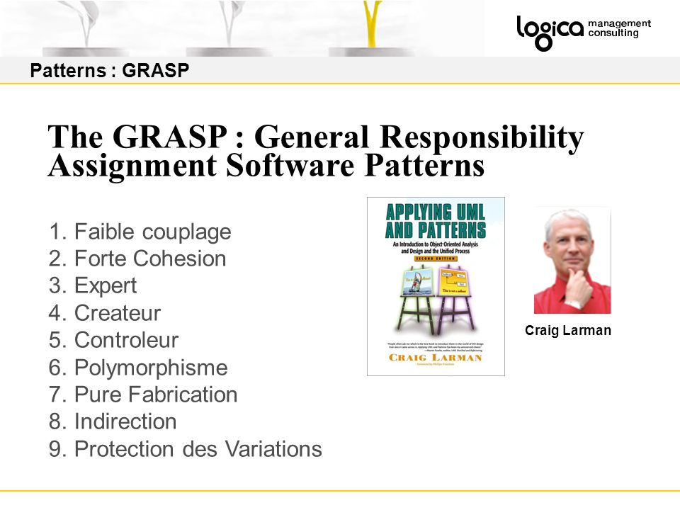 The GRASP : General Responsibility Assignment Software Patterns
