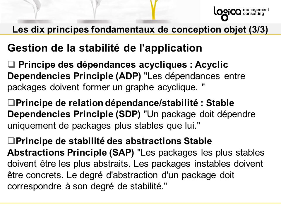 Les dix principes fondamentaux de conception objet (3/3)