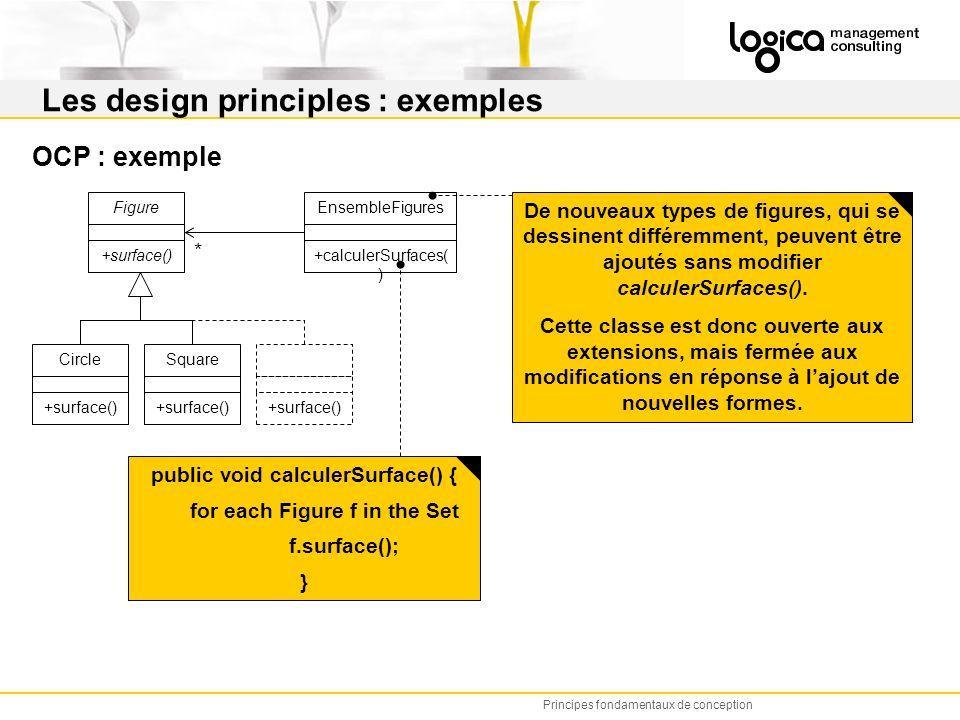 Les design principles : exemples