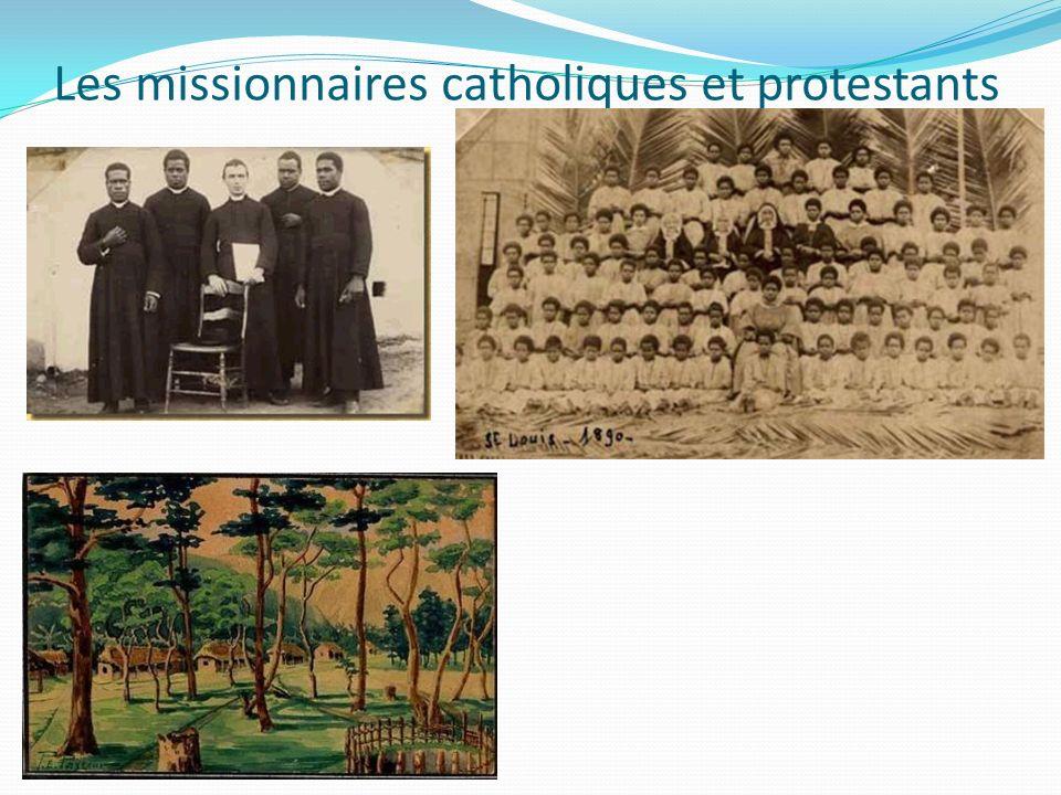 Les missionnaires catholiques et protestants