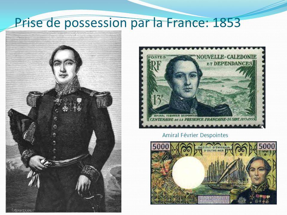 Prise de possession par la France: 1853