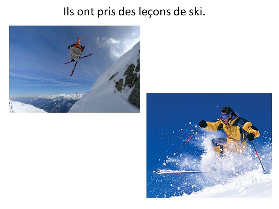Ils ont pris des leçons de ski.