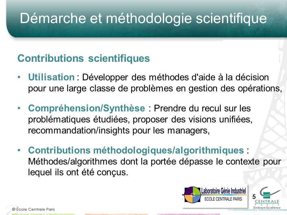 Démarche et méthodologie scientifique