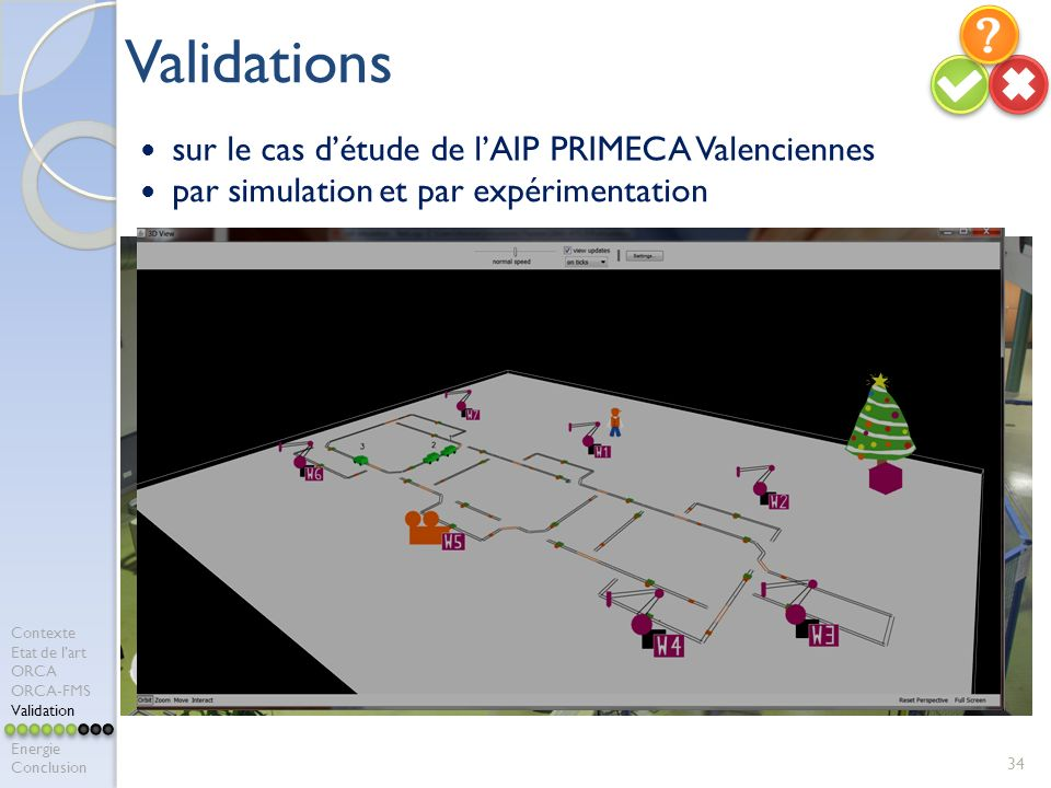 Validations sur le cas d'étude de l'AIP PRIMECA Valenciennes
