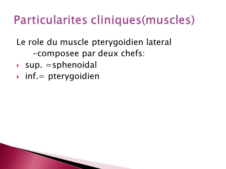 Particularites cliniques(muscles)