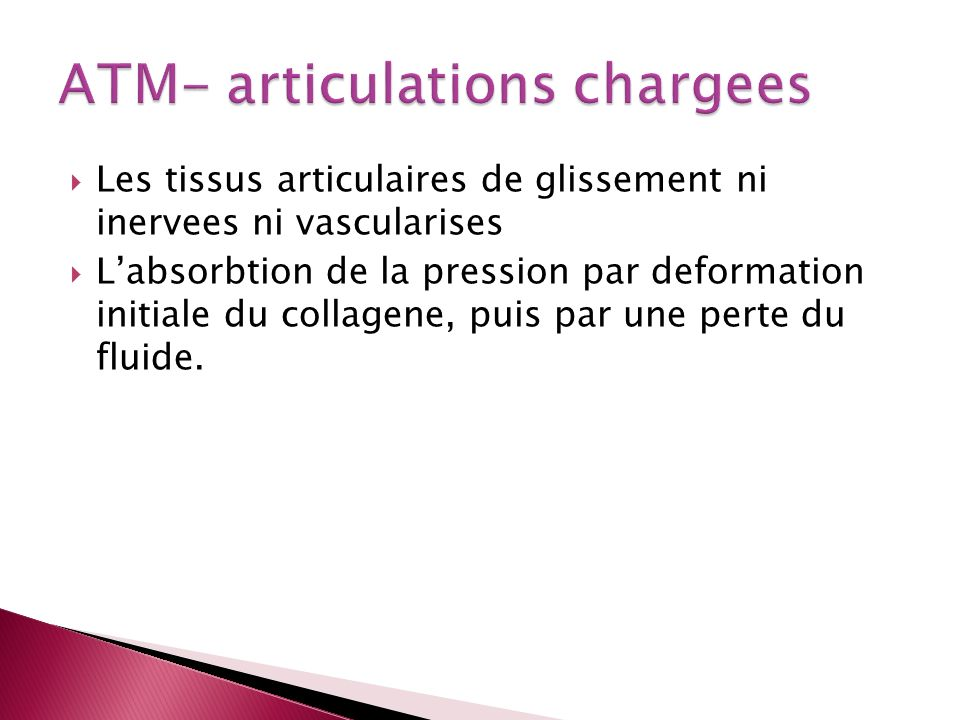 ATM- articulations chargees