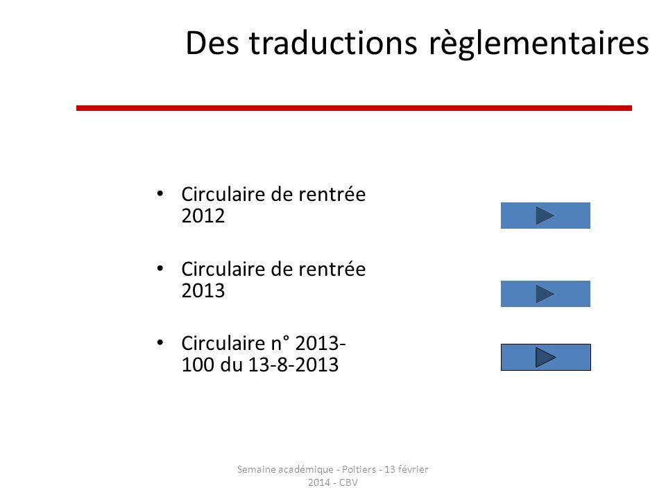 Des traductions règlementaires