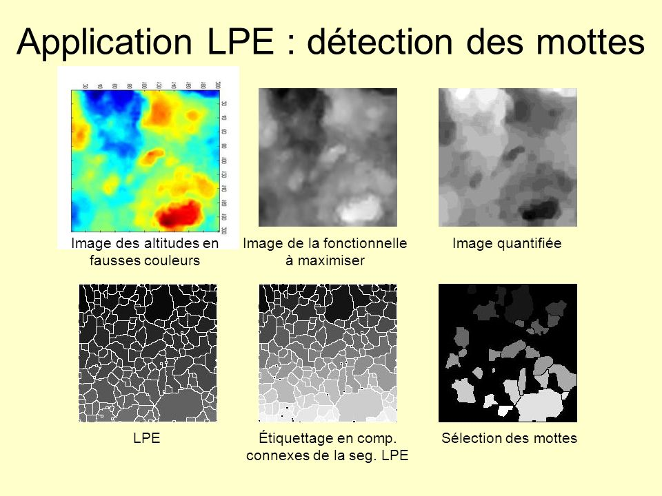 Application LPE : détection des mottes