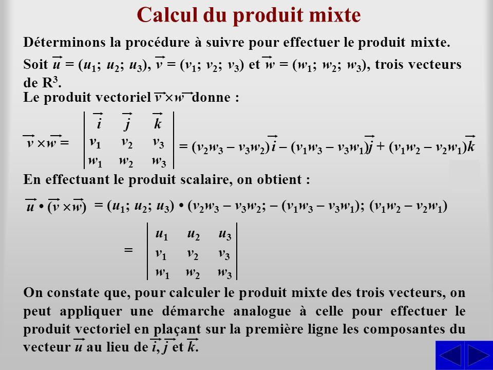 Calcul du produit mixte