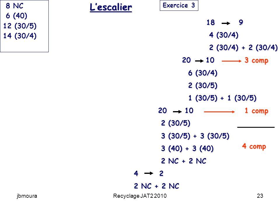 L'escalier 8 NC 6 (40) 12 (30/5) 14 (30/4) 18 9 4 (30/4)