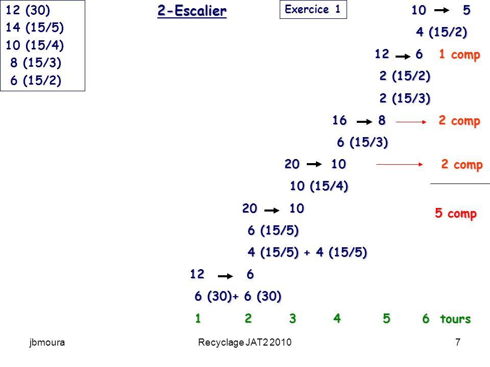 2-Escalier 12 (30) 14 (15/5) 10 (15/4) 8 (15/3) 6 (15/2) 10 5 4 (15/2)