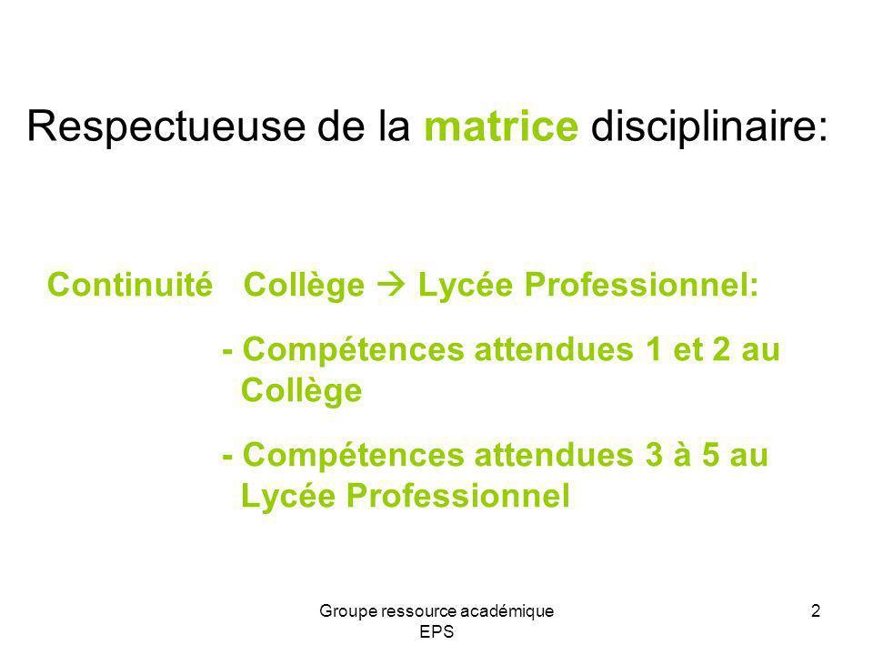 Respectueuse de la matrice disciplinaire: