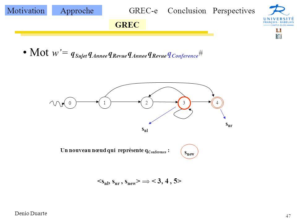Un nouveau nœud qui représente qConference :