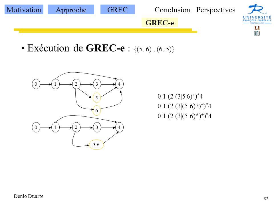 Exécution de GREC-e : {(5, 6) , (6, 5)}