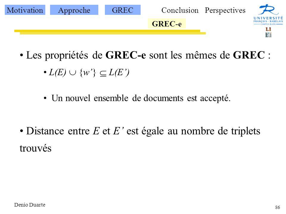 Les propriétés de GREC-e sont les mêmes de GREC :
