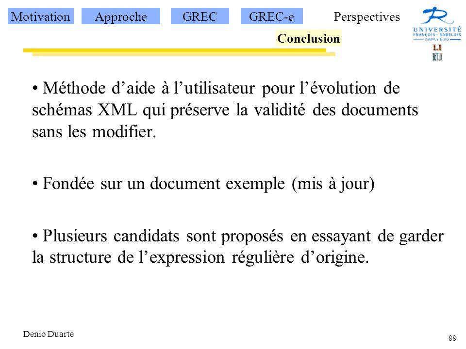 Fondée sur un document exemple (mis à jour)