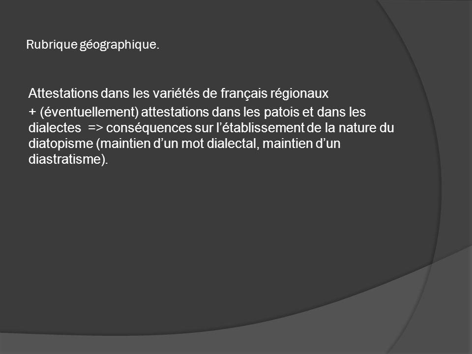 Rubrique géographique.