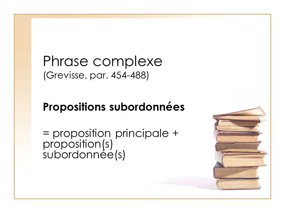 Phrase complexe (Grevisse, par. 454-488)