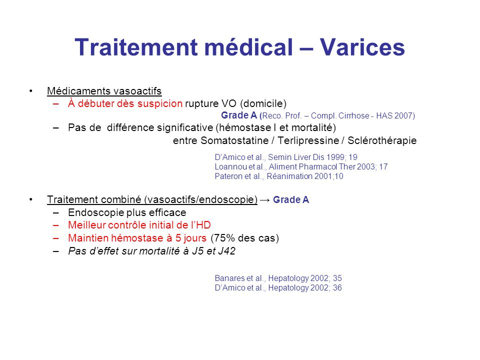 Traitement médical – Varices
