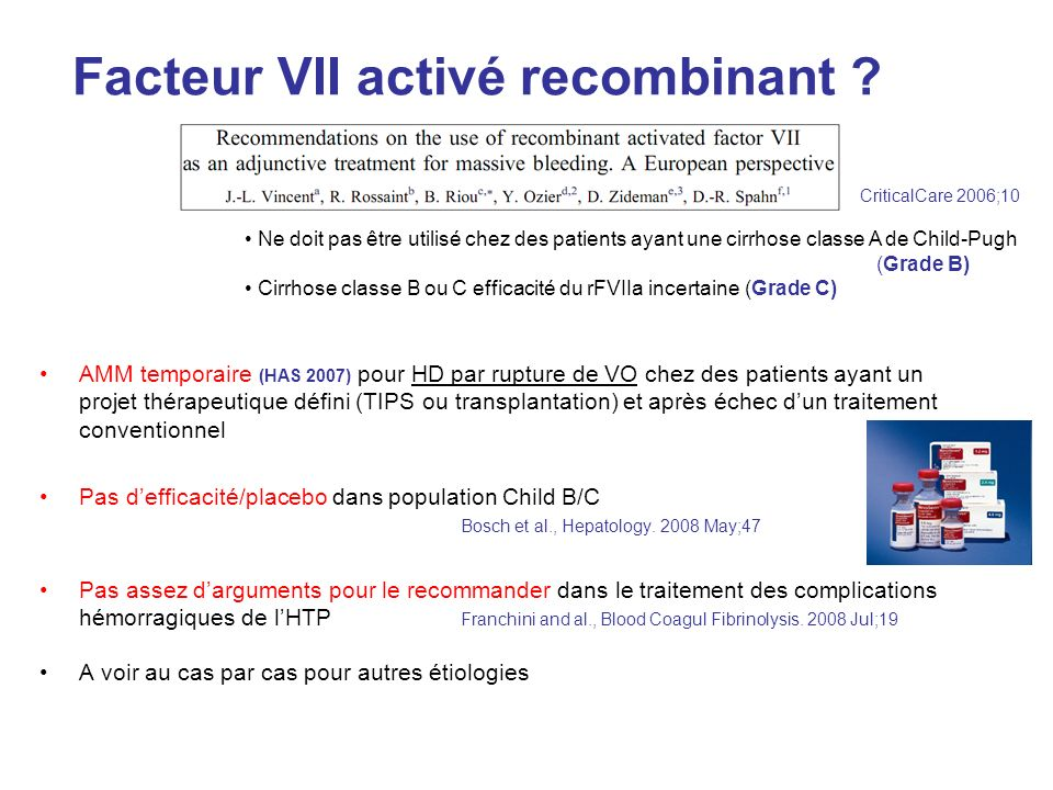 Facteur VII activé recombinant