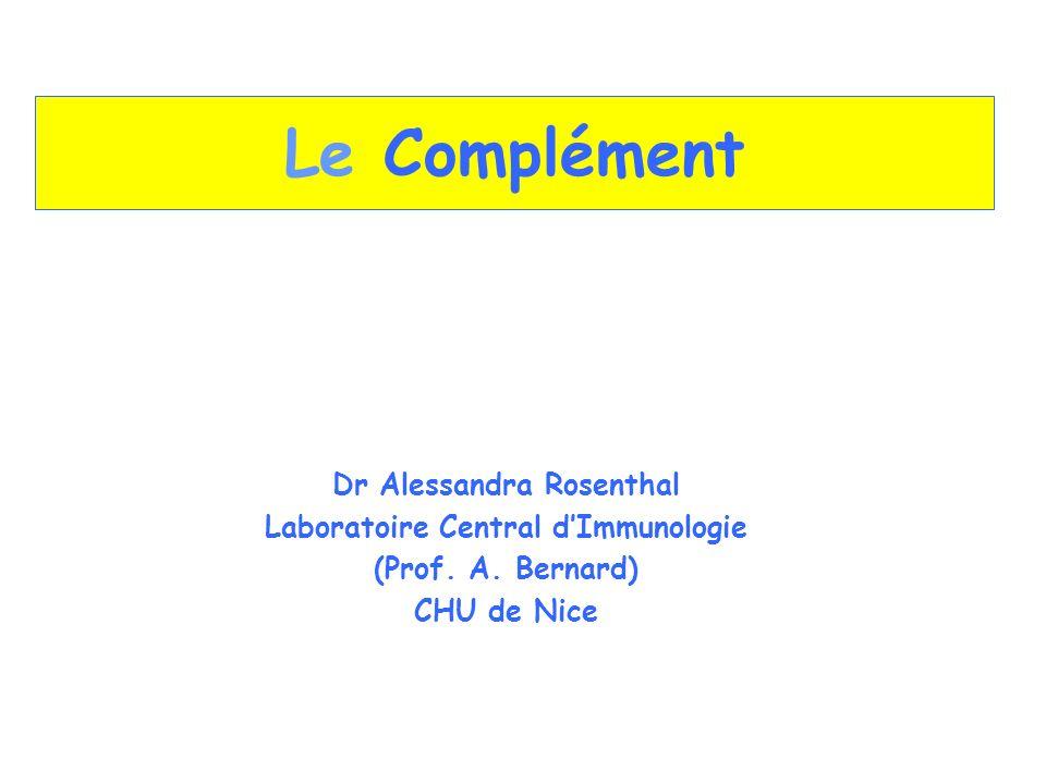 Dr Alessandra Rosenthal Laboratoire Central d'Immunologie
