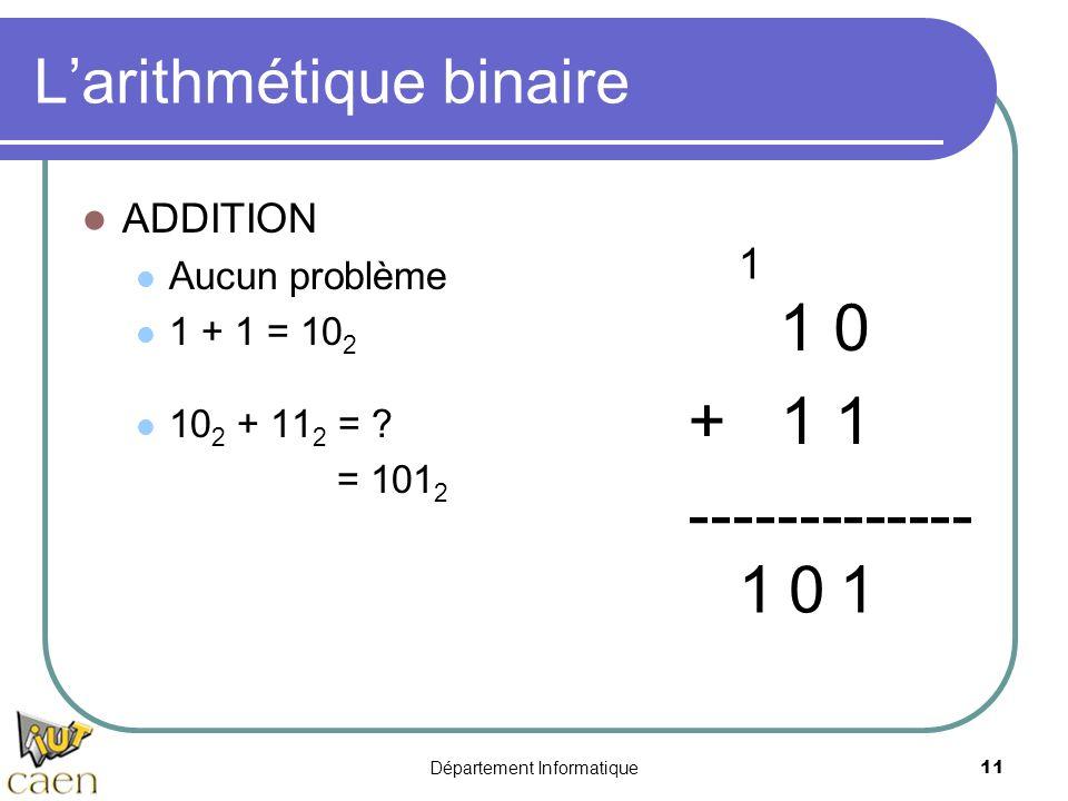 L'arithmétique binaire