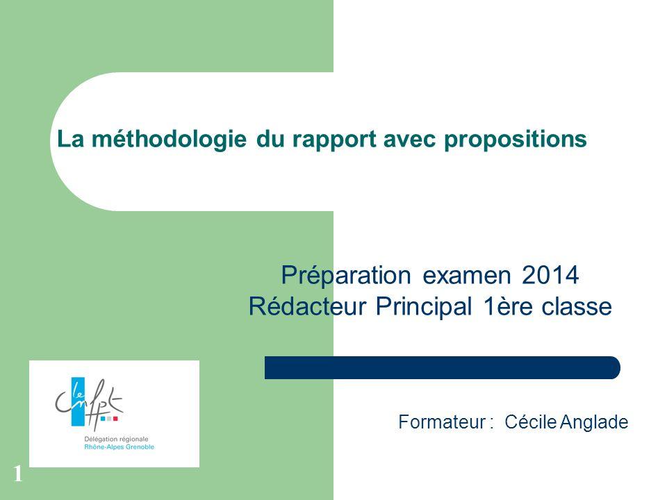 La méthodologie du rapport avec propositions