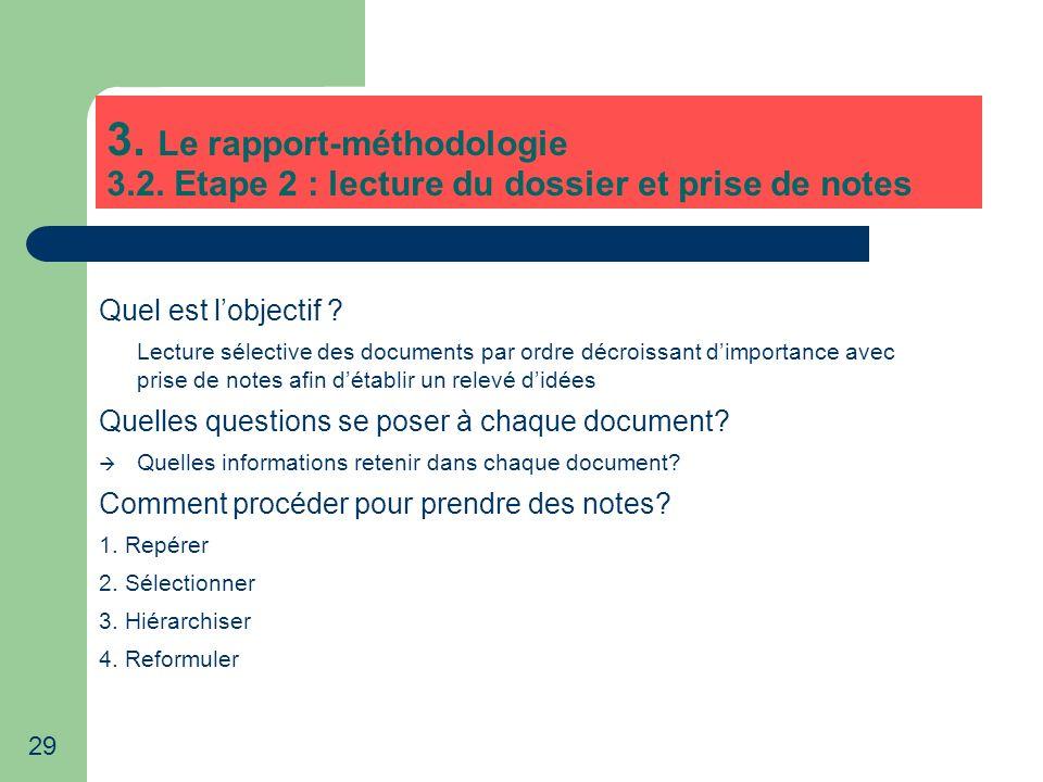 3. Le rapport-méthodologie