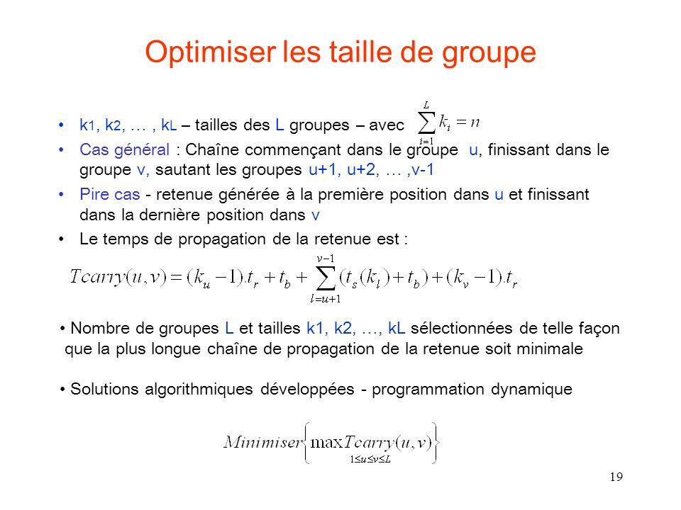Optimiser les taille de groupe