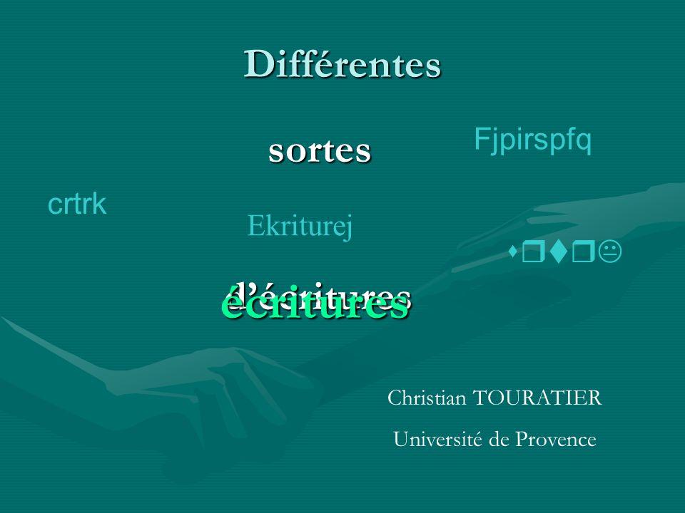écritures Différentes Fjpirspfq sortes crtrk d'écritures Ekriturej