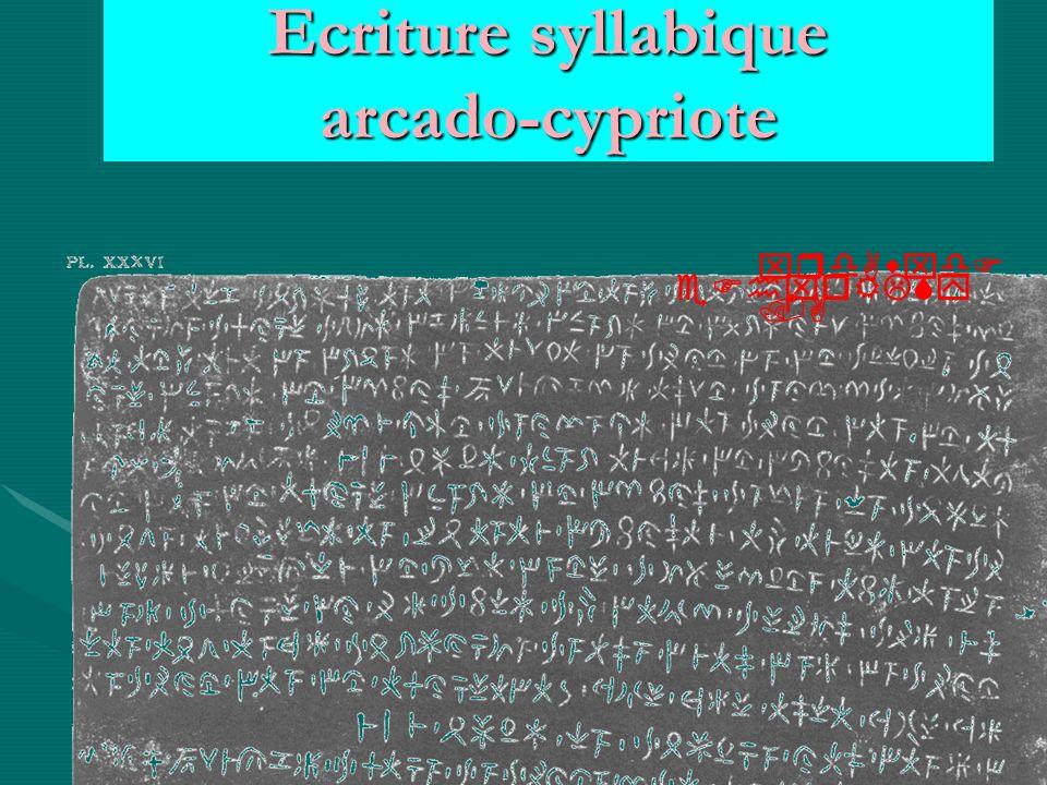 Ecriture syllabique arcado-cypriote