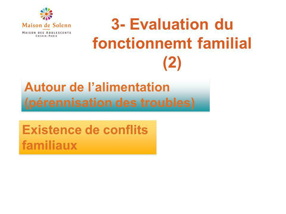 3- Evaluation du fonctionnemt familial (2)