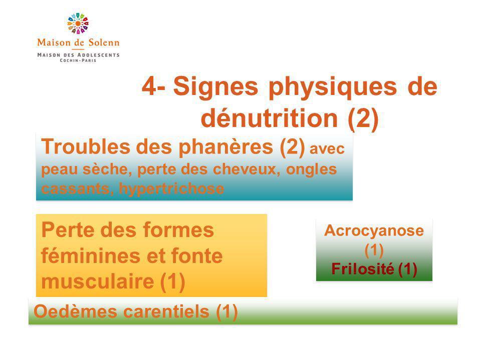 4- Signes physiques de dénutrition (2)