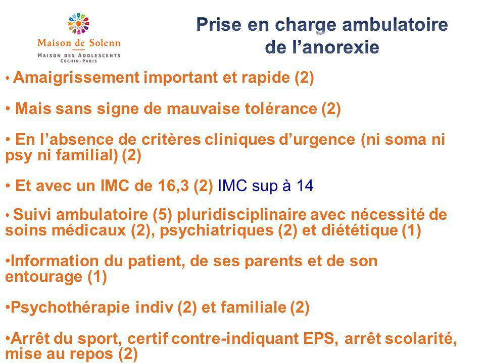 Prise en charge ambulatoire de l'anorexie