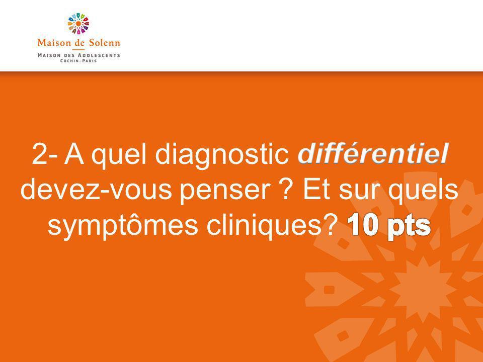 2- A quel diagnostic différentiel devez-vous penser