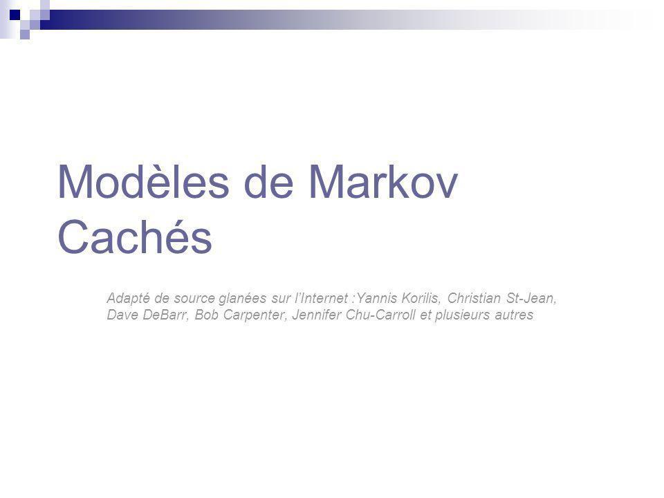Modèles de Markov Cachés