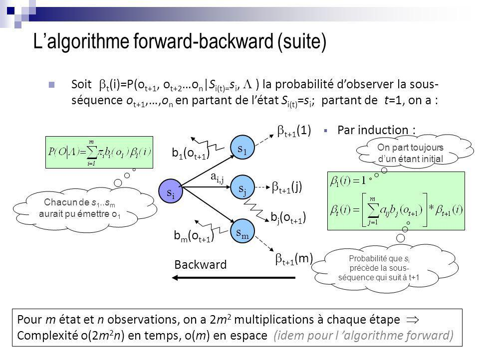 L'algorithme forward-backward (suite)